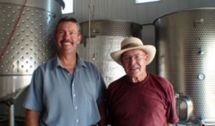 Winemaker Hagen Kruger and his father Adolf from Wild Goose Vineyards, Okanagan Falls