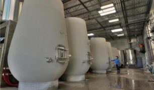 Concrete tanks at OK Crush Pad. Photo by Lionel Trudel.